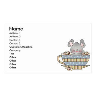 peppermint candies christmas mouse cup business card template