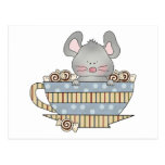 peppermint candies christmas mouse cup postcards