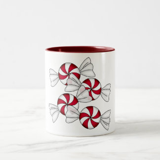 Peppermint Candies Two-Tone Coffee Mug
