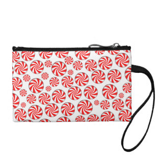 Peppermint Candy Background Coin Wallet
