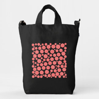 Peppermint Candy Background Duck Bag