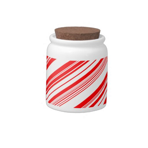 Peppermint Candy Cane Christmas Holidays Candy Jar