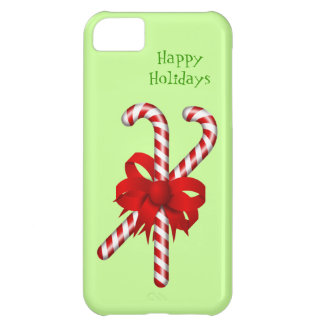 Peppermint Candy Cane Red Bow Custom Christmas iPhone 5C Covers
