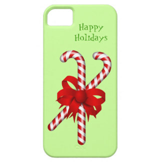 Peppermint Candy Cane Red Bow Custom Christmas iPhone SE/5/5s Case
