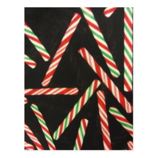 Peppermint Candy Cane Sticks Postcard