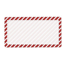 Peppermint Candy Cane Stripe Shipping Labels