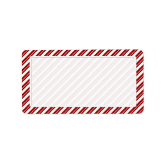 Peppermint Candy Cane Striped Blank Address Labels