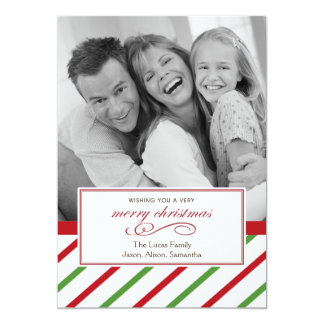 Peppermint Candy Christmas Card