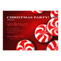 Peppermint Candy Christmas Party Invitation