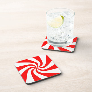 Peppermint Candy Coaster Set