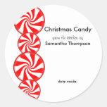Peppermint Candy Custom Classic Round Sticker