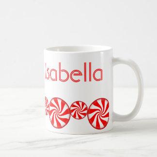 Peppermint Candy Custom Personalized Classic White Coffee Mug
