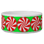 Peppermint Candy Dog Food Bowl