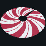 "Peppermint Candy Double Swirl Brushed Polyester Tree Skirt<br><div class=""desc"">Peppermint Candy Double Swirl Tree Skirt</div>"
