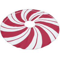 Peppermint Candy Double Swirl Brushed Polyester Tree Skirt