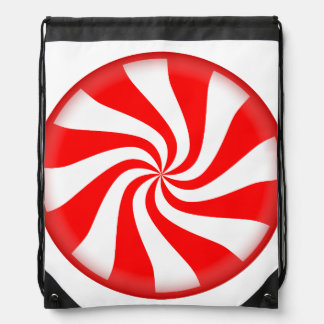 Peppermint Candy Drawstring Bag