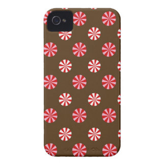 Peppermint Candy Holiday Blackberry Case - Brown