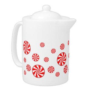 Peppermint Candy Holiday Tea Pot