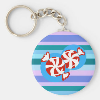 Peppermint Candy Keychain