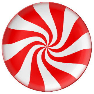 Peppermint Candy Porcelain Plate