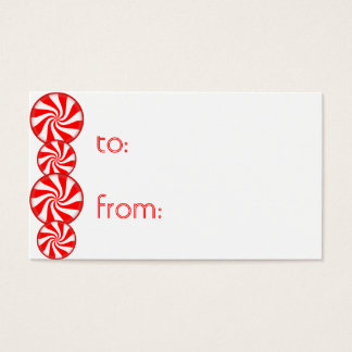 Peppermint Candy Merry Christmas Gift Tags