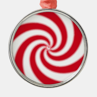 Peppermint Candy Metal Ornament