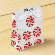 Peppermint Candy Party Favor Boxes