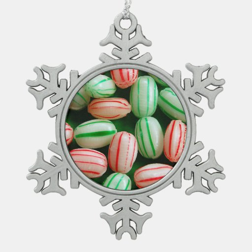 Melted Peppermint Candy Ornaments: Peppermint Candy Print Christmas Ornament