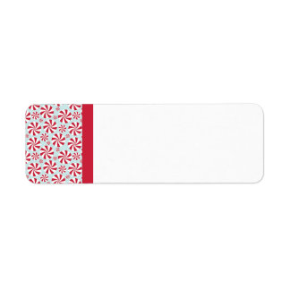 Peppermint Candy Red and Blue Holiday Label