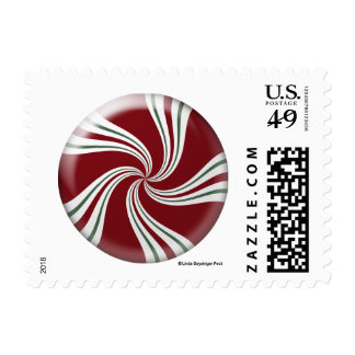 Peppermint Candy Round Postage Stamp