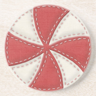 Peppermint Candy Sandstone Coaster
