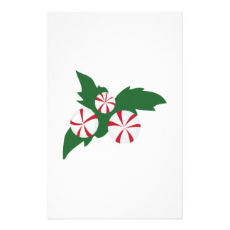 Peppermint Candy Personalized Stationery