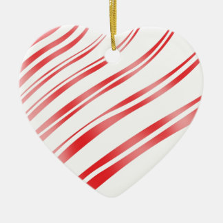 Peppermint Candy Stripe Ceramic Ornament