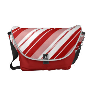 Peppermint Candy Stripe Courier Bag