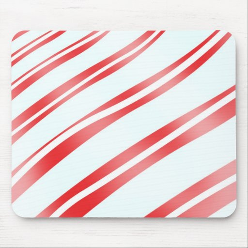 Peppermint Candy Stripe Mouse Pads