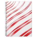 Peppermint Candy Stripe Spiral Note Book