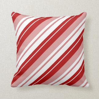 Peppermint Candy Stripe Throw Pillow