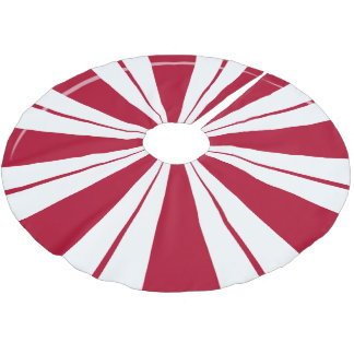 Peppermint Candy Stripes Brushed Polyester Tree Skirt