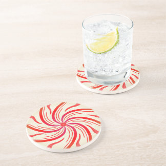 Peppermint Candy Swirl Coaster
