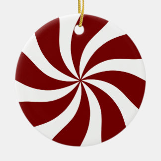 Peppermint Candy Swirl Red And White Christmas Tree Ornament