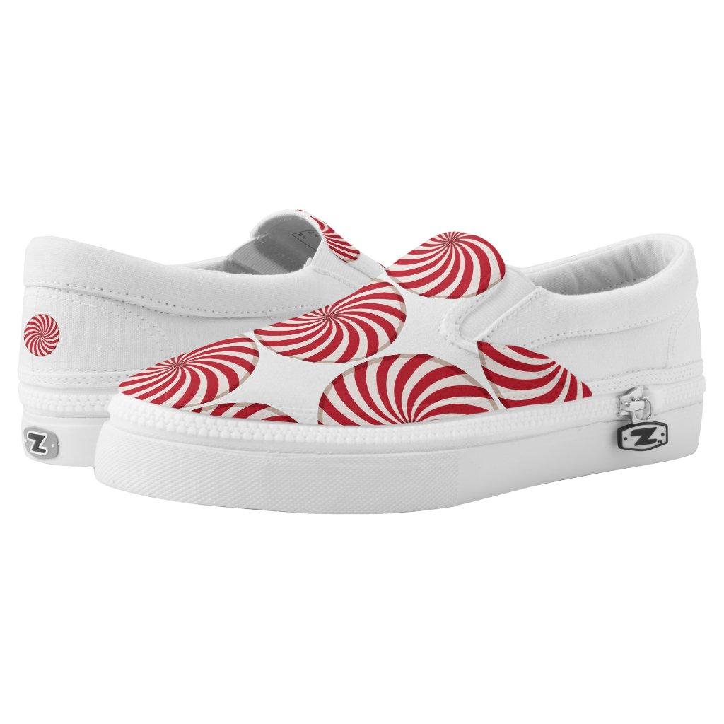 Peppermint Candy Swirl Slip-On Sneakers