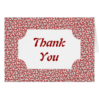 Peppermint Candy Thank You Note Cards