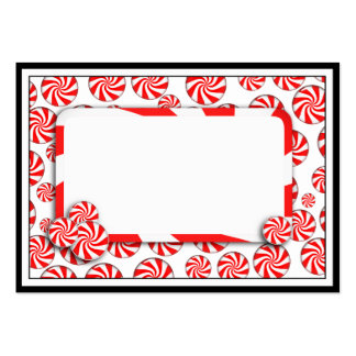 Peppermint Candy w/Tag Large Business Cards (Pack Of 100)