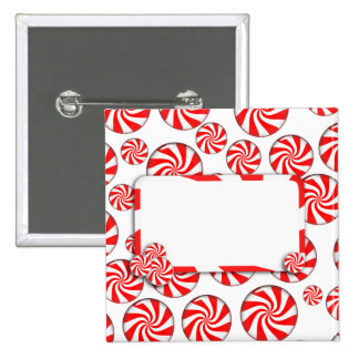 Peppermint Candy w/Tag Button