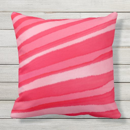 Wash Or Throw Away Pillows : PEPPERMINT CANDY water color wash Throw Cushion Outdoor Pillow Zazzle
