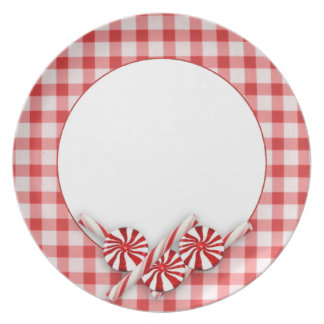 Peppermint Christmas Plate