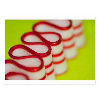 Peppermint Christmas Ribbon Candy Postcard