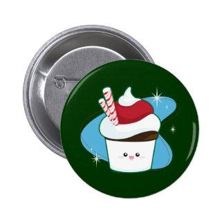 Peppermint Cupcake Button