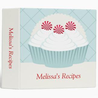 Peppermint Cupcakes Recipe Binder