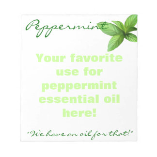 Peppermint Essential  Oil Notepad